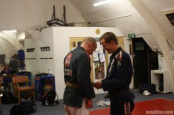 Marc Walder promotes Dave Birkett to brown belt
