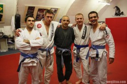 An ace posse of new blue belts