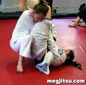 Keelin McGrory and Kat Gibson sparring