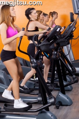 Ladies on the elliptical runner