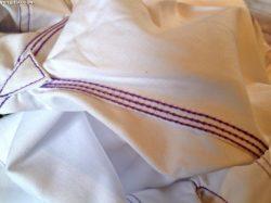 triple stitching at gusset