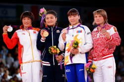Women's wrestling 63kg medalists 2012