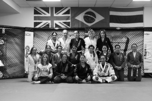 group photo of BJJ women