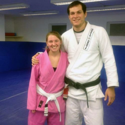 portrait of Ceris Oram and Roger Gracie