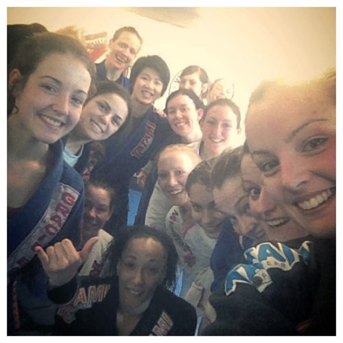 BJJ Women Bring the Smiles, (Hayley centre right)