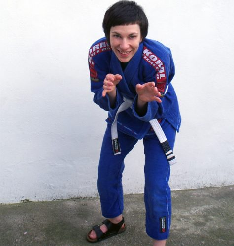 Meg as white belt